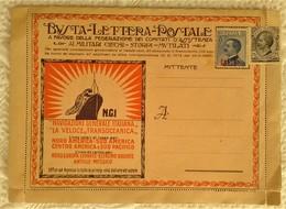 CPA PAQUEBOT TRANSATLANTIQUE BUSTA LETTERA POSTALE NAVIGAZIONE GENERALE ITALIANA VELOCE TRANSOCEANICA PUBLICITE ROMA... - Steamers