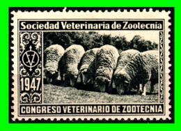 ESPAÑA CURIOSA VIÑETA CON LEYENDA 1947 «SOCIEDAD VETERINARIA DE ZOOTECNIA». - Wohlfahrtsmarken