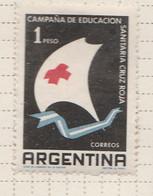 PIA - ARGENTINA -1959 : Campagna Della Croce Rossa Di Educazione Sanitaria- (Yv  601) - Argentina