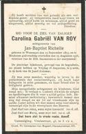 VAN ROY Carolina Gabriël °1873 Wesemael +1916 Mechelen Echt. Jan Richelle Doodsprentje Image Mortuaire  Funeral - Religion &  Esoterik