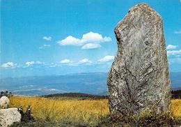 30 - Le Massif De L'Aigoual - Un Menhir Sur La Route De La Luzette - France
