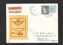 Service Aérien Par Hélicoptère Anvers Amsterdam  Du 04/08/1953 - Airmail