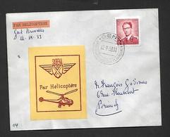Service Aérien Par Hélicoptère Gent Bruxelles Du 12/09/1953 - Airmail
