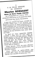 Ploegsteert, Mouscron, Moeskroen, 1968, Maurice Bossaert, Freyne - Images Religieuses