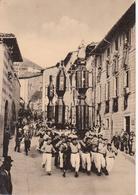 GUBBIO - RIEVOCAZIONE STORICA - FESTA E CORSA DEI CERI : CALATA DEI FERRANTI - FOLKLORE - VIAGGIATA 1955 - Italie