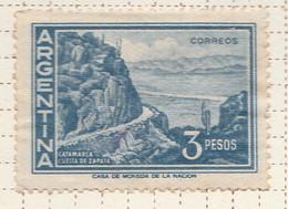 PIA - ARGENTINA -1949-62 :  Costa Di Zapata - (Yv  605) - Used Stamps