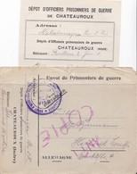 Enveloppe En Franchise Militaire Camp D'officiers Prisonniers De Guerre De Chateauroux Indre - Marcophilie (Lettres)