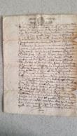 GENERALITE PARIS 1682 UN SOL LA FEUILLE - Gebührenstempel, Impoststempel