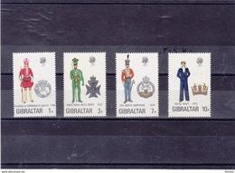 GIBRALTAR 1972 UNIFORMES IV Yvert 284-287 NEUF** MNH - Gibraltar