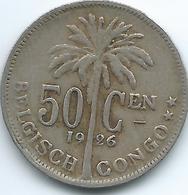 Belgian Congo - Albert I - 1926 - 50 Centimes - KM23 (Dutch Text) - 1910-1934: Albert I