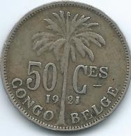 Belgian Congo - Albert I - 1926 - 50 Centimes - KM22 (French Text) - 1910-1934: Albert I
