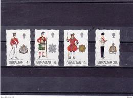GIBRALTAR 1975 UNIFORMES VII  Yvert 316-319 NEUF** MNH - Gibraltar