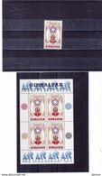 GIBRALTAR 1976 INDEPENDANCE USA  Yvert 337 + BF 2 NEUF** MNH - Gibilterra