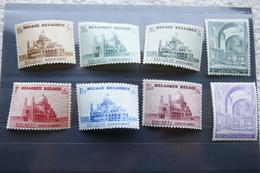"""Série Complète """"Basilique Koekelberg"""" + La Version Modifiée Du Timbre De 5F. 1938. - Unused Stamps"""