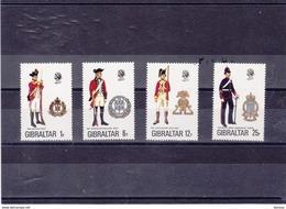GIBRALTAR 1976 UNIFORMES VIII  Yvert 338-341 NEUF** MNH - Gibraltar