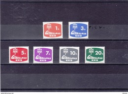 GIBRALTAR 1976 TAXE Yvert 7-12 NEUF** MNH - Gibilterra