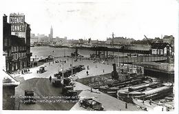 CPA Animée Cherbourg Avant-port Pont Tournant Gare Maritime Brucke Bridge - Cherbourg