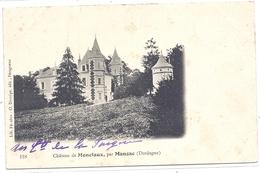 CPA - Manzac - Aux Alentours : Château De Monciaux - France