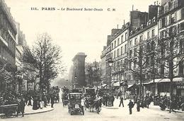 CPA Très Animée Paris Boulevard Saint-Denis - Other Municipalities