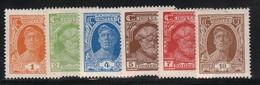 Russie - URSS 1927/28 Yvert 392/93/94/95/96/98 Neufs** MNH & Neufs* Traces De Charnières (AB85) - Nuevos
