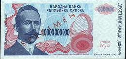 BOSNIA & HERZEGOVINA - 10 Billion Dinara 1993 {Banja Luka} {SPECIMENT} UNC P.159 S - Bosnia And Herzegovina