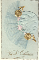 SAINTE CATHERINE BONNET TULLE BLEU - VIVE SAINTE CATHERINE - Saint-Catherine's Day