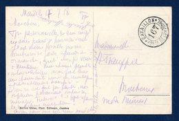 Suisse. Franchise Bataillon 167.Poste De Campagne. 1918  Sur CP Gorges Du Durnand - Military Post