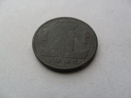 1 Franc 1941 Léopold III Type Rau Belgique-Belgie - 1934-1945: Leopold III.