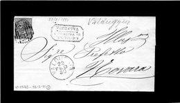 CG31 - Ann. N. 3243 + Bollo Cerchio Gr. 22/2/1880 - Lett. Da Valduggia X Novara + Bollo Com. Di Valduggia - No Testo - 1878-00 Umberto I