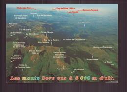 LES MONTS DORE VUS A 5000 M. D ALT. 63 - Le Mont Dore