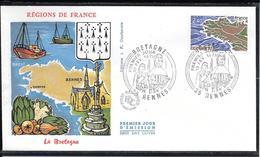 FDC 1977 - 1917  Régions De France: La BRETAGNE - 1970-1979