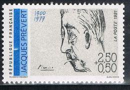 FRANCE : N° 2685 ** (Jacques Prévert) - PRIX FIXE : 1/3 De La Cote - - France