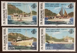 Seychelles Zil Elwagne Sesel 1982 Local Mail Vessels Ships MNH - Seychelles (1976-...)