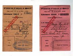 Fèdèration Nationale De Boules Annèes1950 - 51 Suchard Roger - Documents Historiques