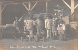 """¤¤   -   PORNIC  -  LE CLION-sur-MER  -  Carte-Photo De L'Ecole """" SAINT-JOSEPH """" En 1912  -   Ouvriers  -  ¤¤ - Pornic"""