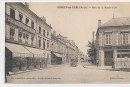 CPA Romilly-sur-seine (Aube) Rue De La Boule-d'Or Circulée Animée - Romilly-sur-Seine