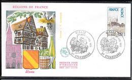 FDC 1977 - 1921 Régions De France: L'ALSACE - 1970-1979