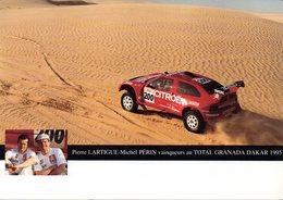 RALLY - RALLIE - VICTOIRE DE LA CITROEN - ZX RALLYE RAID - LARTIGUE - PERIN -N 011 - Rally Racing