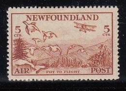 NEW FOUNDLAND 1933  POSTA AEREA  5C SG 230 MLH SPLENDIDO - 1908-1947