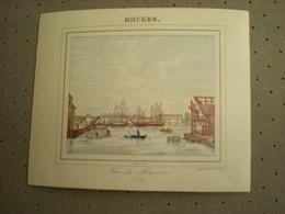 BRUGGE - BRUGES - VUE DU BASSIN 1843 - PORCELEINKAART 13 Cm X 10.5 Cm - Brugge