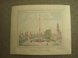 BRUGGE - BRUGES - VUE GENERALE DE BRUGES 1843 - PORCELEINKAART 13 Cm X 10.5 Cm - Brugge