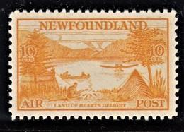 NEW FOUNDLAND 1933  POSTA AEREA  10C SG 231 MLH SPLENDIDO - 1908-1947