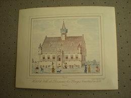 BRUGGE - BRUGES - HOTEL DE VILLE DE DAMME - LEZ - BRUGES 1843 - PORCELEINKAART 13 Cm X 10.5 Cm - Brugge