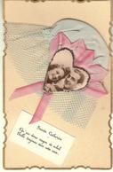 SAINTE CATHERINE BONNET DENTELLE BLEU NOEUDS ROSES - Saint-Catherine's Day