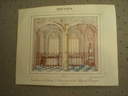 BRUGGE - BRUGES - TOMBEAUX DE CHARLES LE TEMERAIRE ET DE MARIE DE BOURGOGNE 1843 - PORCELEINKAART 13 Cm X 10.5 Cm - Brugge