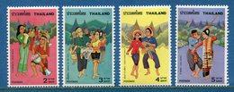 Thaïlande - YT N° 820 à 823 - Neuf Sans Charnière - 1977 - Thaïlande
