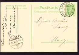 1908 5Rp Ganzsachen Karte Mit Stempel Lumbrein - Entiers Postaux