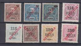 Portugal CONGO Mi# 125-32 * Mint Overprint 1915 - Congo Portugais