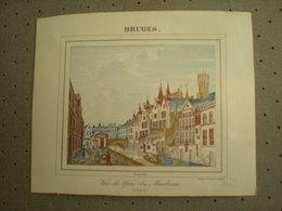 BRUGGE - BRUGES - VUE DU QUAI DES MARBRIERS 1843 - PORCELEINKAART 13 Cm X 10.5 Cm - Brugge