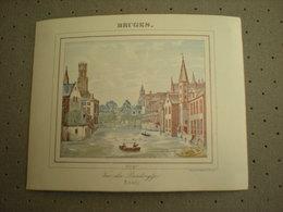 BRUGGE - BRUGES - VUE DU PANDREYTJE 1843 - PORCELEINKAART 13 Cm X 10.5 Cm - Brugge